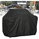 MAXTUF Grill Cover, 210D Oxford Heavy-duty Waterproof Gas Barbeque Grill Cover with Double Stitching and Heat Sealed Seams BBQ Cover for Weber, Holland, Jenn Air, Brinkmann (S)