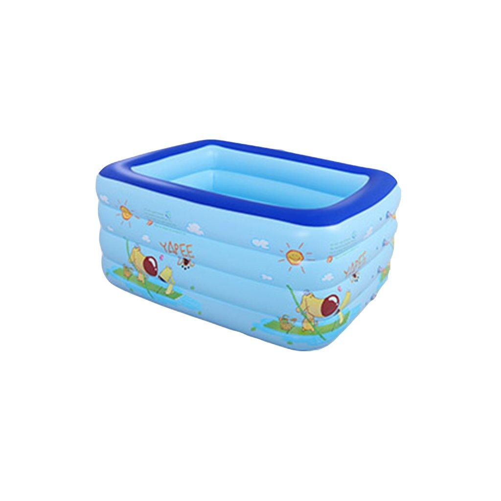 LYM Badewanne Baby Schwimmbad Neugeboren Dicker Isolierung Waschbecken Inflated Schwimmen Eimer Portable Badewanne Faltbare Dusche Badfässer (Ausgabe   Package C, größe   148  110  80  22CM)