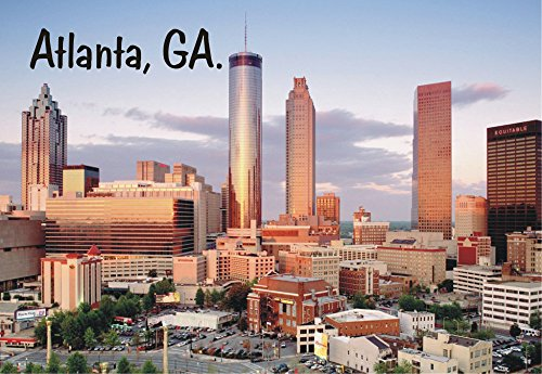 Atlanta, Georgia, Downtown, Skyline, City, Buildings, GA, Souvenir Magnet 2 x 3 Fridge Magnet