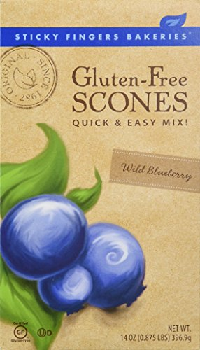 Sticky Fingers Bakeries Gluten Free Scone Mix Wild Blueberry -- 14 oz - Gluten Free Scone