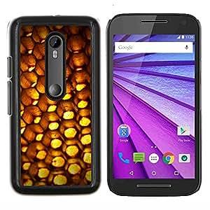 YiPhone /// Prima de resorte delgada de la cubierta del caso de Shell Armor - Resumen Patten Honeycomb - Motorola MOTO G3 / Moto G (3nd Generation)