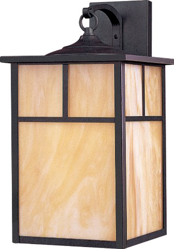 Maxim 55054HOBU Coldwater LED 1-Light Outdoor Wall Lantern, Burnished Finish, Honey Glass, LED Bulb, 40W Max, Wet Safety Rating, Standard Dimmable, Glass Shade Material, 2016 Rated Lumens