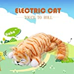 Colorzonesd Electric Cat 30cm Funny Simulation Electric Cat Roll Plush Animals Cats Toys Kid