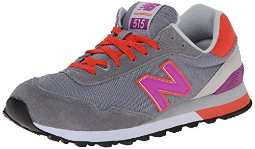 New Balance Women's WL515 Modern Classic Running Shoe, Grey/Purple, 7 B US
