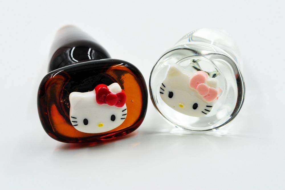 8bde7f66ced Amazon.com  Funsm 151204 Hello Kitty Adornment Pyrex Glass Anal Butt Plug  Bead Adult Male Female Masturbation Products Sex Toys for Women Men  Girlfriend ...