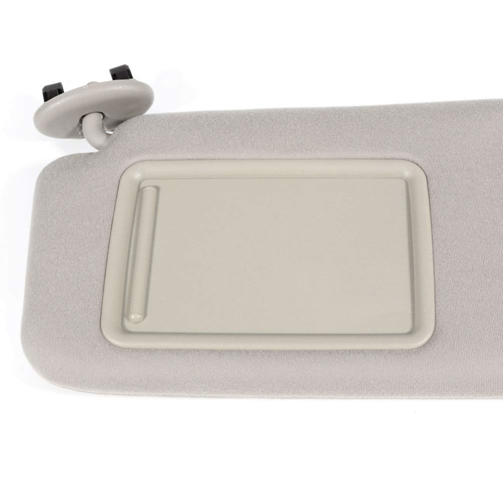 cciyu Beige Windshield Sun Visor Mirror Left Driver Side Replacement fit for 2006 2007 2008 2009 2010 2011 for Toyota Camry Automobile Sun Visor Assembly