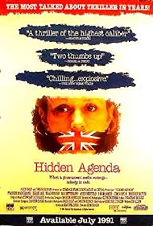 Hidden Agenda Single-Sided Video 27X40 Frances Mcdormand ...