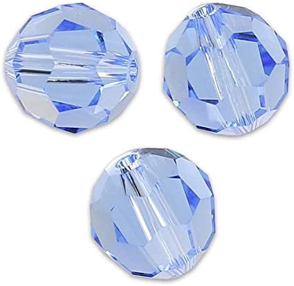 8 Pieces Swarovski 5000 faceted 10mm Round Ball Beads Crystal SMOKED TOPAZ AB