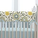 Carousel Designs Spa Pom Pon Play Crib Rail Cover