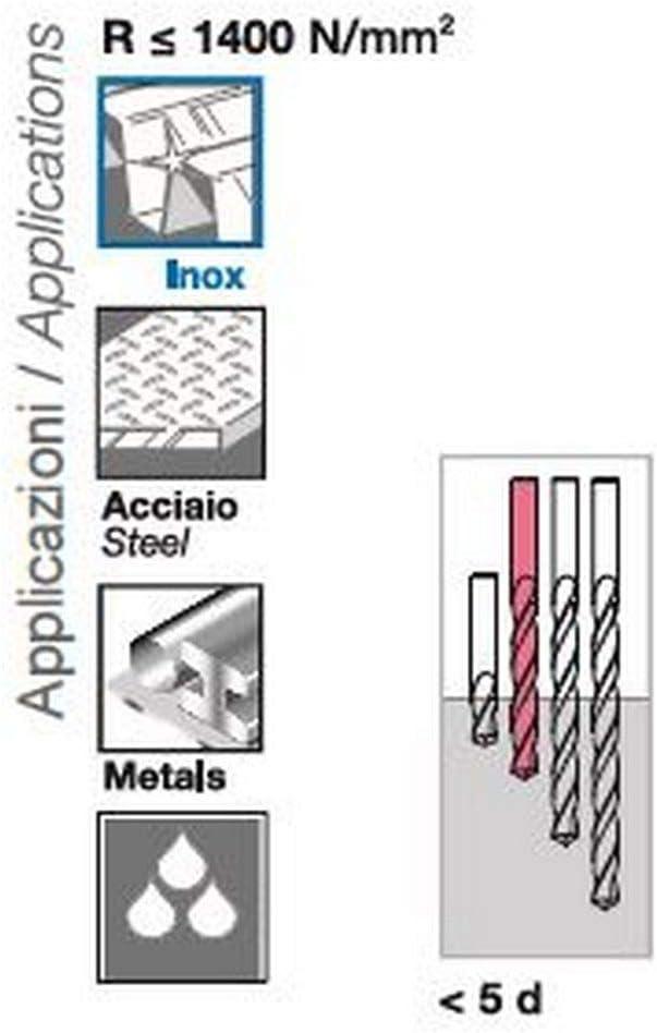 10X Kobalt Spiralbohrer HSS-CO 8/% Geschliffen 0.6 mm DIN 338