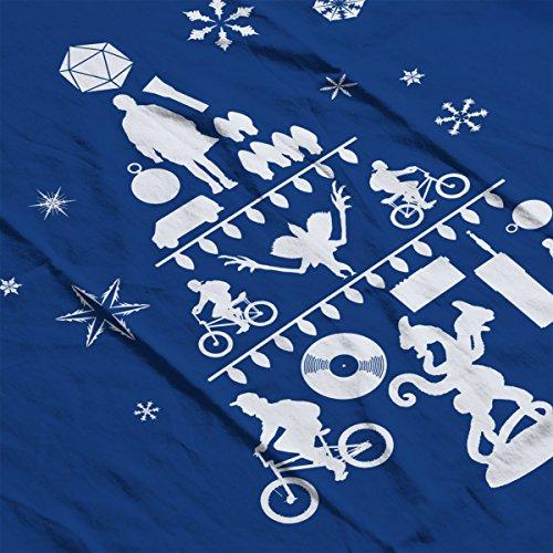 Royal Christmas white Tree Varsity Things White Stranger Men's Jacket Silhouette nRwa8xwqZ7