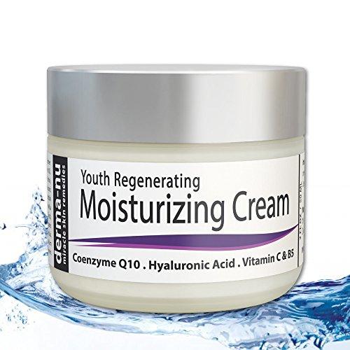 Anti envejecimiento crema para la cara por Derma-nu - mejor crema hidratante Facial - tratamiento de la piel para el sol daña la piel y arrugas - 2oz