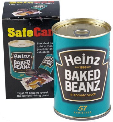 - Safe Can Heinz Baked Beans Secret Home Security Hide Away Valuables & Money Gift by Sterling Locks Ltd