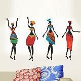 Decals Design ' African Women' Wall Sticker (PVC Vinyl, 50 cm x 70 cm, Black)
