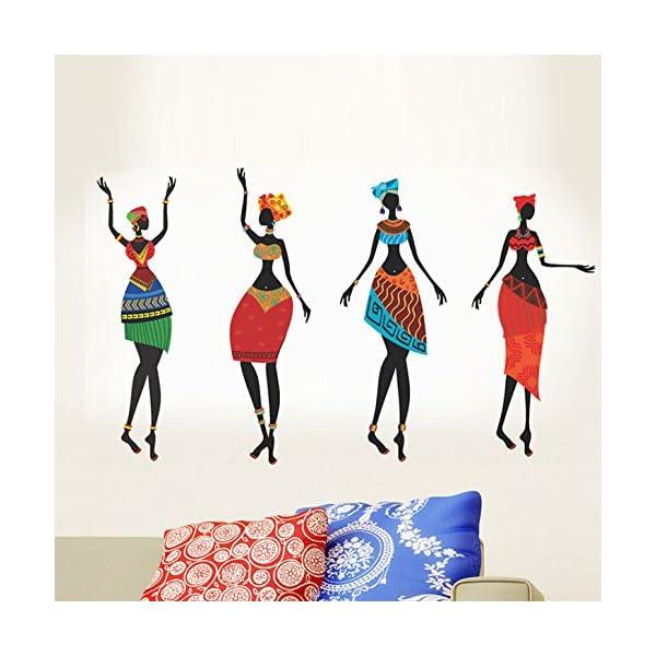 StickersKart Colorful Black African Women Decals Design Wall Stickers