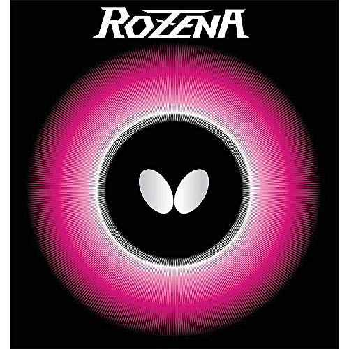 Butterfly Rozena Table Tennis Rubber Table Tennis Rubber | 1.7 mm, 1.9 mm, or 2.1 mm | Red or Black | 1 Inverted Table Tennis Rubber Sheet | Professional Table Tennis Rubber