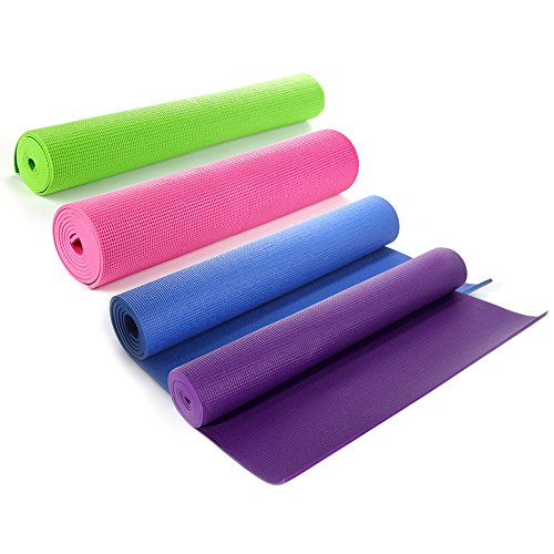 Masione Yoga Mat All-Purpose 6mm Thick PVC High Density Pad with Carry Bag 68