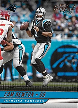 8579ce0a6 Amazon.com: 2017 Certified Cuts #43 Cam Newton Panthers Football ...