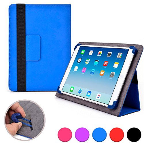 Cooper Cases (TM) Infinite Elite Le Pan S / Haier HG-9041 Tablet Folio Case in Blue (Universal Fit, Built-in Viewing Stand, Elastic Strap Cover Lock) (Le Pan S Case compare prices)
