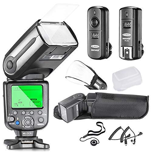 (Neewer NW565EX i-TTL Slave Flash Kit for Nikon DSLR Camera Such as D7100 D7000 D5300 D5200,Include:(1) NW565N Flash +(1) 2.4GHz Wireless Trigger+Hard&Soft Flash Diffuser+Lens Cap Holder+N1&N3 Cable)
