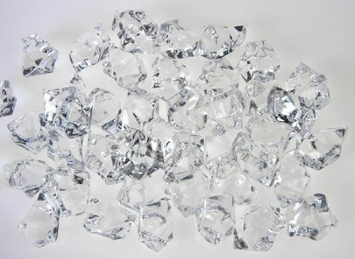 (Aketek Translucent Clear Acrylic Ice Rocks for Vase Fillers or Table Scatters)