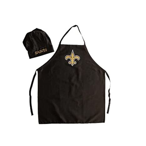 4ce615fad5e Image Unavailable. Image not available for. Color  Men s Chef Hat   Apron -  NFL - New Orleans Saints - Team Logo BBQ Barbeque
