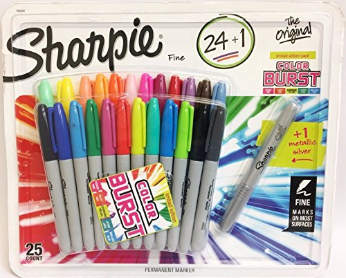 Sharpie Original Fine Point 24 + 1 Bonus Electro Pop (Sharpie Colored Markers)