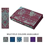 Gaiam Yoga Mat Folding Travel Fitness & Exercise Mat | Foldable Yoga Mat for All Types of Yoga, Pilates & Floor Workouts | Folds to 12″ x 10″ Square (68″L x 24″W x 2mm Thick)