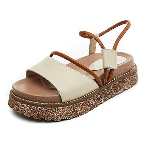 zapatos Múltiple magdalenas verano Plana A De Señora Sandalias Banda Uso una 7PwHqxz0