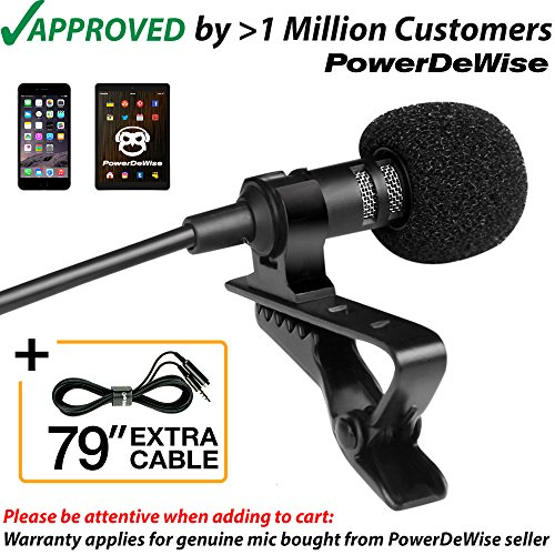 Other Signal Processors - Professional Grade Lavalier Lapel Microphone  Omnidirectional Mic with Easy Clip On System  Perfect for Recording Youtube/Interview/Video Conference/Podcast/Voice Dictation/iPhone/ASMR