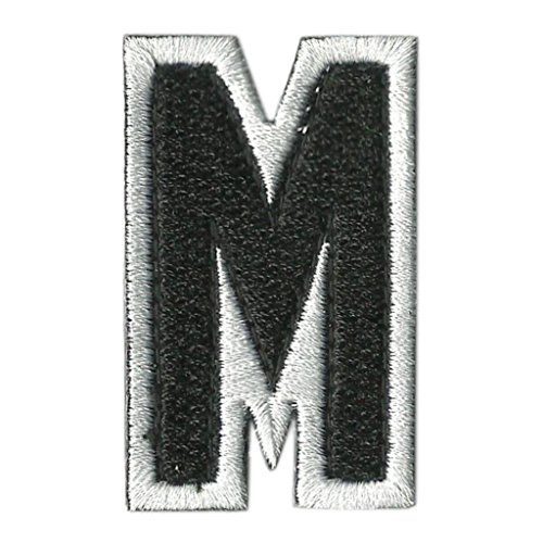 Tactical Letter Patches - Black/White - M