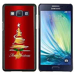 """Be-Star Único Patrón Plástico Duro Fundas Cover Cubre Hard Case Cover Para Samsung Galaxy A5 / SM-A500 ( Navidad árbol de la estrella Arte Dibujo Luces Feliz"""" )"""
