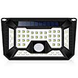 Solar Lights Outdoor, Wireless 66LED Lights of 4 Sides with Wide Lighting Area,Super Bright,Waterproof Security Lights for Front Door, Garden, Patio,Yard (1 Pack) Review