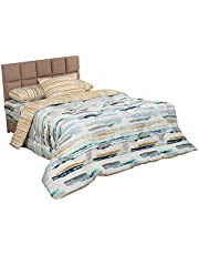 Al Maamoun Multi-Shape Bedding Set with Duvet Cover, 4 Pieces, 240 x 180 cm - Multi Color