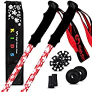 High Stream Gear Kids Trekking Poles – Collapsible Telescopic Brightly Colored Walking Sticks for Children – I