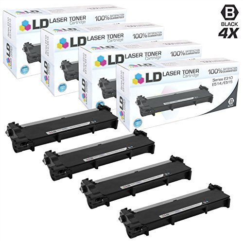 LD Compatible Toner Cartridge Replacement for Dell 593-BBKD P7RMX High Yield (Black, 4-Pack)