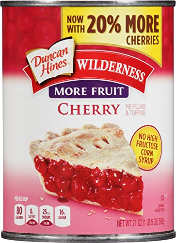 Wilderness More Fruit Pie Filling & Topping, Cherry, 21 Ounce by Wilderness