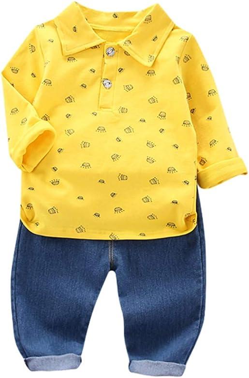 ZOREFINE 🤠 Otoño pequeña Corona Camisa de Manga Larga Pantalones ...