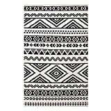 Modway Haku Geometric Moroccan Tribal 8x10 Area Rug With Contemporary Design In Black and White