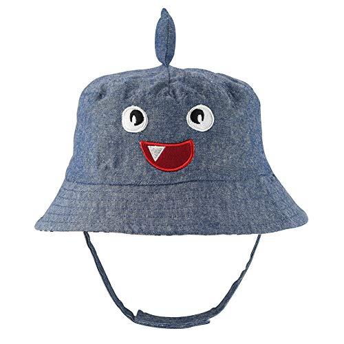 - Cartoon Baby Sun Hat Reversible - Double Sides Toddler Kids Sun Protection Animal Shark Hat UPF 50+ Beach Pool Cap(Shark, 48cm)
