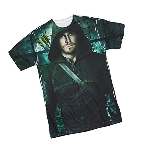 Two Sides -- CW's Arrow TV Show Front Print Sports Fabric T-Shirt, X-Large