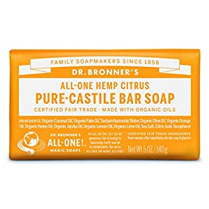 Dr. Bronner's Citrus Bar Soap Made with Orga...