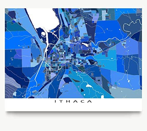 Amazon ithaca map print new york usa city art cornell maps as art gumiabroncs Gallery