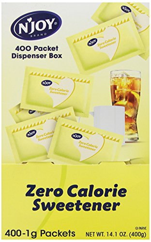 N'Joy Zero Calorie Sweetener, Yellow Sucralose, Packets, 400 (Calorie Sweetener Packets)