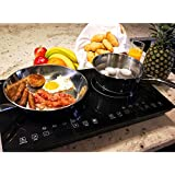 Evergreen Home 1800W Double Digital Induction Cooktop | Portable Countertop Burner-Easy To Clean