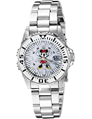 Invicta Womens Disney Limited Edition Quartz Stainless Steel Casual Watch, Color:Silver-Toned (Model: 25574)