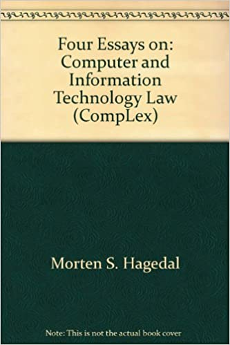 Topics For A Proposal Essay Four Essays On Computer And Information Technology Law Complex Morten S  Hagedal  Amazoncom Books Modest Proposal Essay Examples also Business Strategy Essay Four Essays On Computer And Information Technology Law Complex  Essay Vs Research Paper