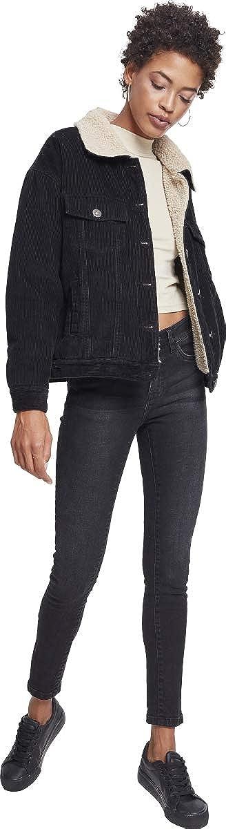 Urban Classics Ladies Oversize Sherpa Corduroy Jacket Giacca Donna