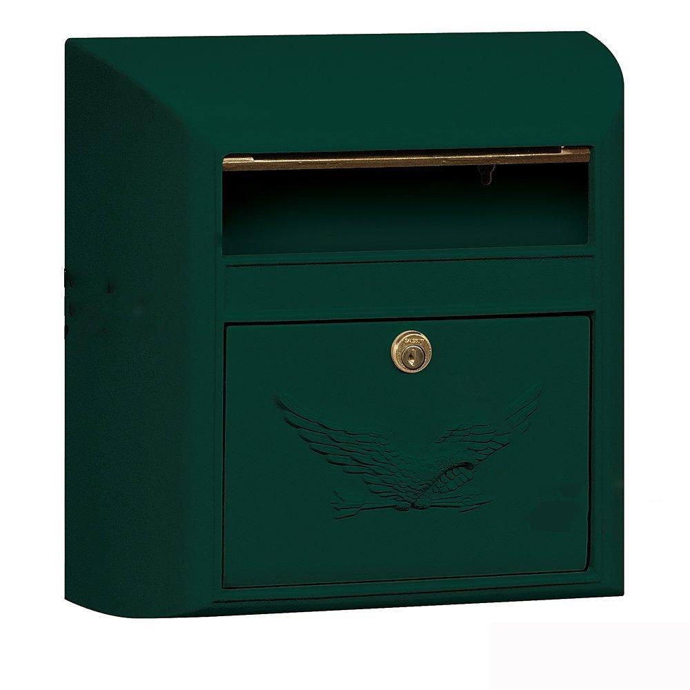 【アメリカ直送】Salsbury Industries Eagle サルスベリーインダストリーイーグル オリジナル Modernメールボックス   (グリーン) B07DLT8FV2 14300 グリーン グリーン