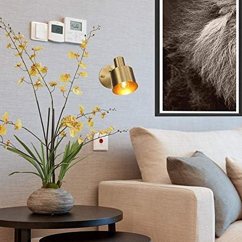 HIZLJJ 光壁ランプ、ウォールランプのガラス材質シェード、浴室鏡ヘッドライトベッドルームベッドサイドの照明用グローブの形状に基づいて、ファッションシンプルヴィンテージインダストリアル・メタル